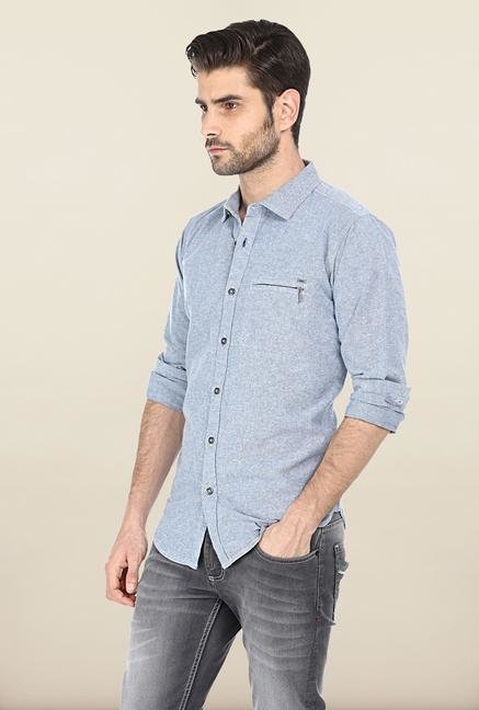 Basics Turquoise Oxford Weave Shirt