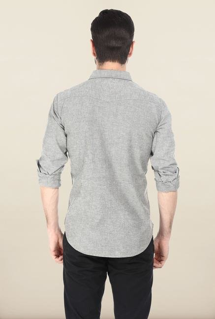 Basics Steel Grey Oxford Weave Shirt