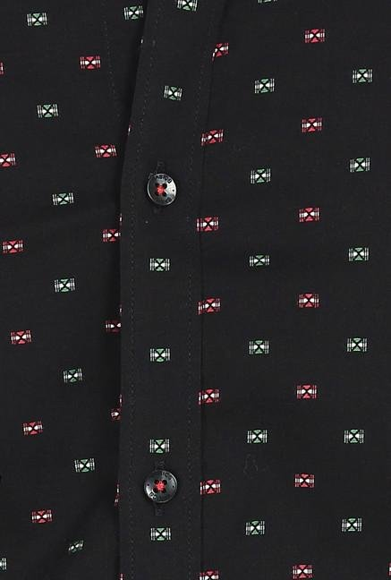 Basics Black Jacquard Butta Shirt