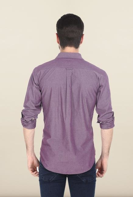 Basics Purple Cotton Shirt