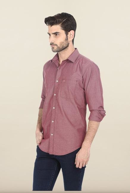 Basics Red Cotton Shirt