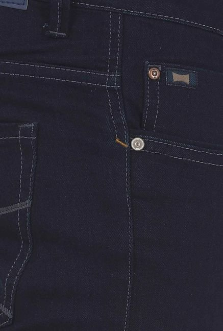 Basics Navy Slim Fit Elastane Jeans