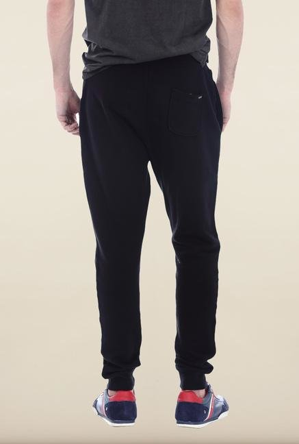 Basics Black Solid Track Pant