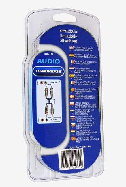 Bandridge BAL4201 Audio Cable Blue