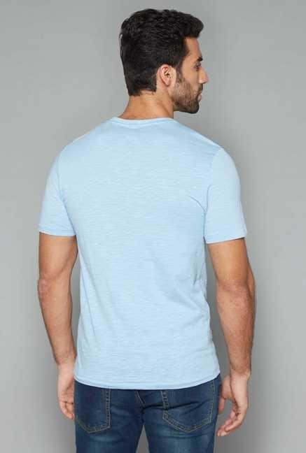 Westsport Mens Blue Crew Neck T Shirt