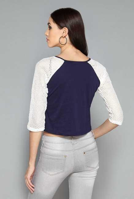 Nuon by Westside Navy Crop Top