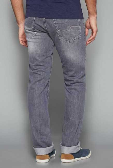 Westsport Mens Grey Regular Fit Jeans