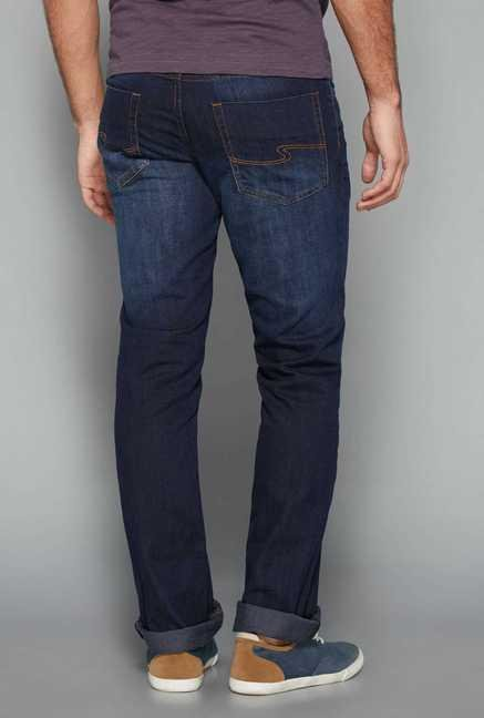 Westsport Mens Blue Mid Rise Fit Jeans