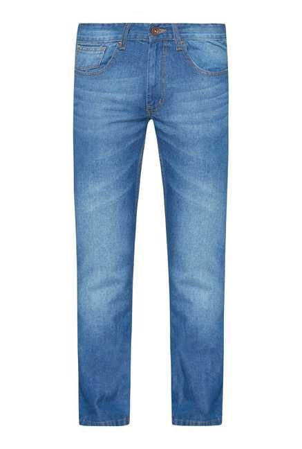 Westsport Mens Blue Regular Fit Jeans