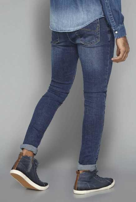 Nuon by Westside Blue High Rise Skinny Fit Jeans