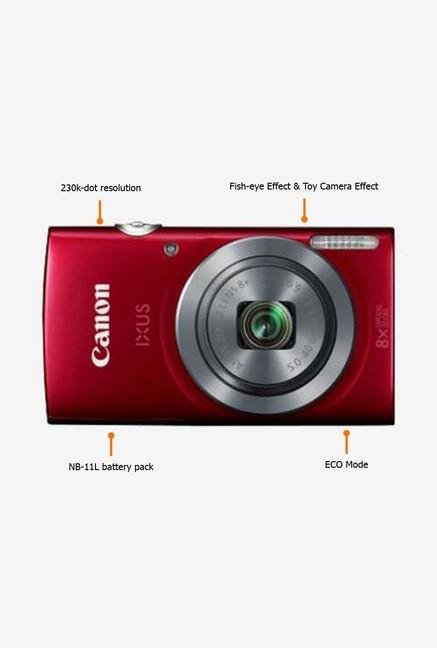 Canon IXUS 160 20 MP Point & Shoot Camera Red