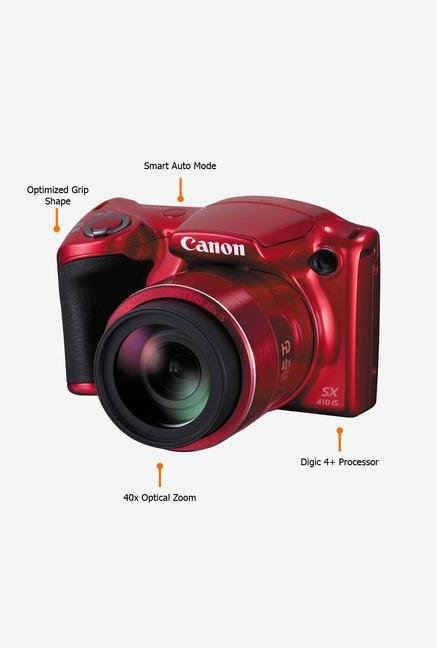 Canon PowerShot SX410 20 MP Point & Shoot Camera Red