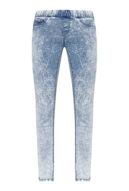 Nuon by Westside Blue Tie Dye Skinny Fit Jeggings