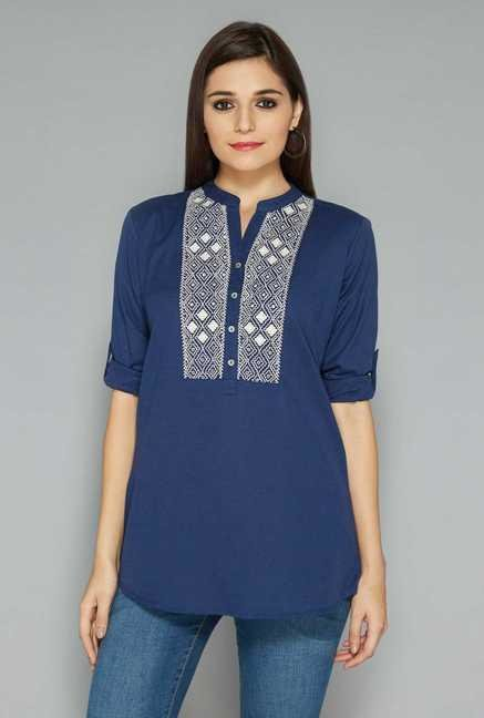 Utsa Blue Embroidery Kurta