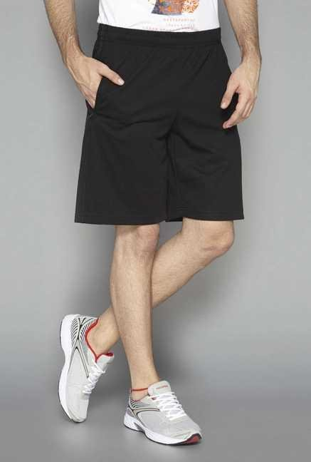Westsport Active Black Solid Cotton Shorts