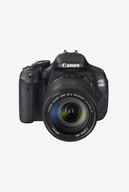 Canon EOS 600D with (EF S18-135mm IS Lens) DSLR Camera Black