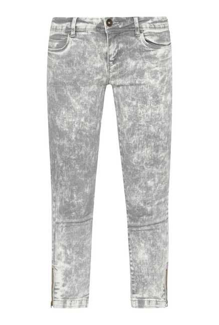 Nuon by Westside Ice Grey Tie Dye Skinny Fit Jeans