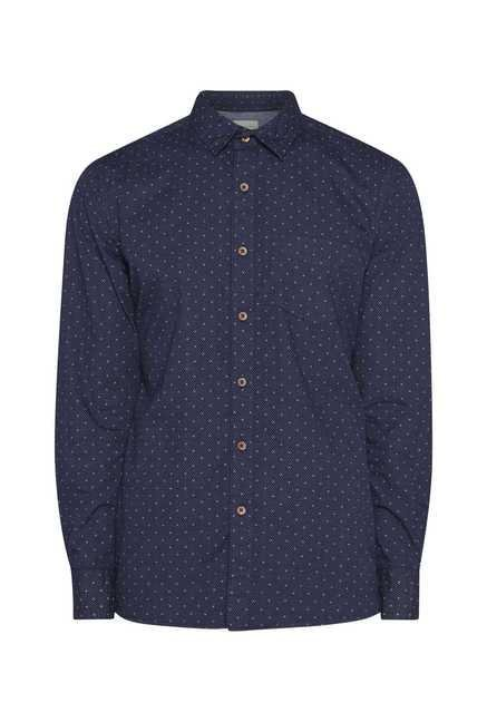Westsport Mens Navy Printed Shirt