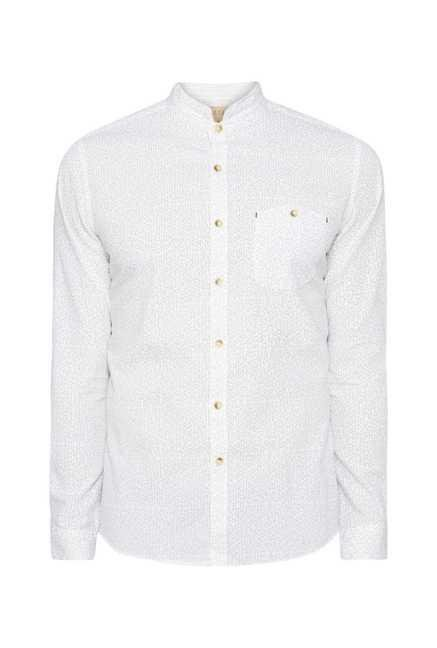 ETA White Printed Shirt