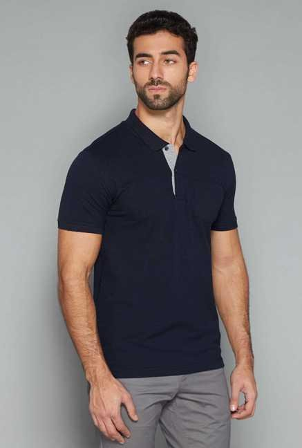 Westsport Mens Navy Polo T Shirt