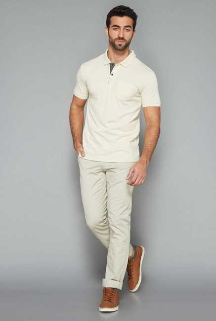 Westsport Mens Beige Polo T Shirt