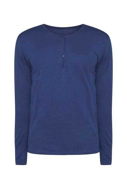 ETA Indigo Henley Cotton T Shirt