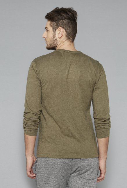 ETA Olive Henley Cotton T Shirt