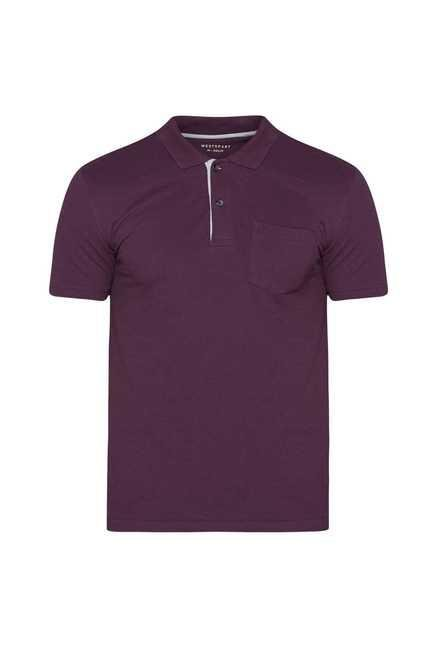 Westsport Mens Wine Polo T Shirt