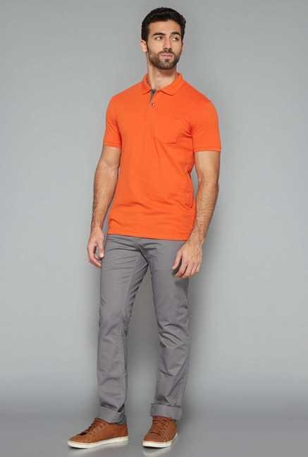 Westsport Mens Orange Polo T Shirt