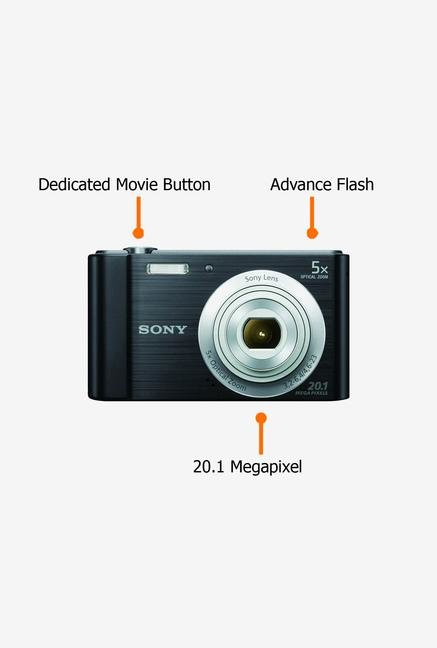 Sony Cyber-shot W800 20.1 MP Point & Shoot Camera Black