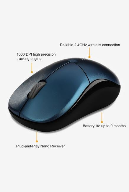 Rapoo 5G Wireless 1090P 3Key Mouse Blue
