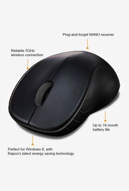 Rapoo 5G Wireless 3000P 3Key Mouse Blue