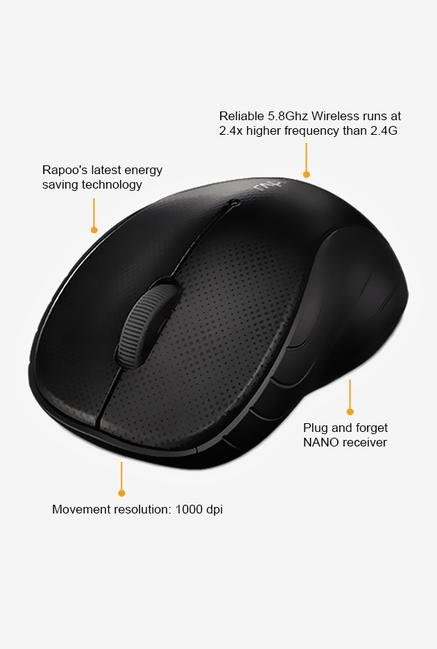 Rapoo 5G Wireless 3000P 3Key Mouse Grey