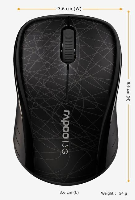 Rapoo 5G Wireless 3100P 3Key Mouse Black