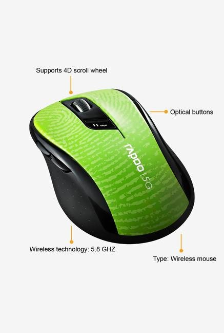 Rapoo 5G Wireless 7100P 6Key Mouse Green