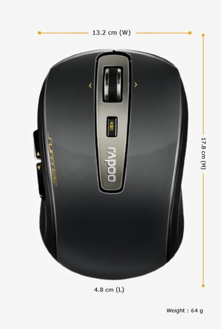 Rapoo 5G Wireless 3920P Laser Mouse Black