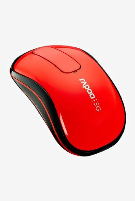 Rapoo 5G Wireless T120P Touch Mouse Red