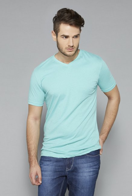 Westsport Green V Neck Cotton T Shirt