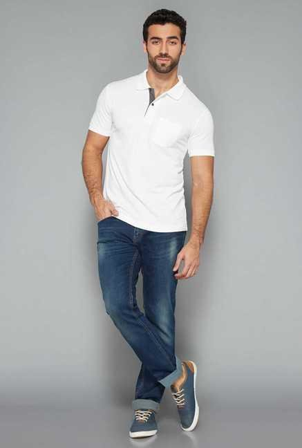 Westsport Mens White Polo T Shirt