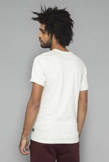 Nuon by Westside Oat Crew Neck Cotton T Shirt
