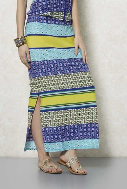 Fusion Beats Multicolor Nila Skirt