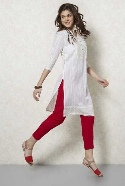 Fusion Beats Birch Cotton Kurta