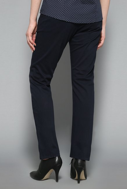 Wardrobe Navy Solid Trouser
