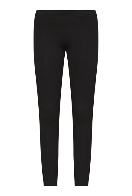 Bombay Paisley Black Solid Leggings