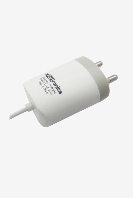 Portronics 2.1A Micro USB Adapter (White)
