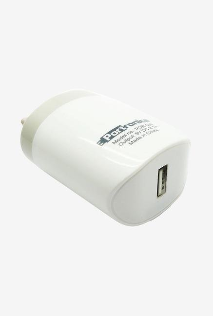 Portronics 2.1A Micro USB Adapter  White