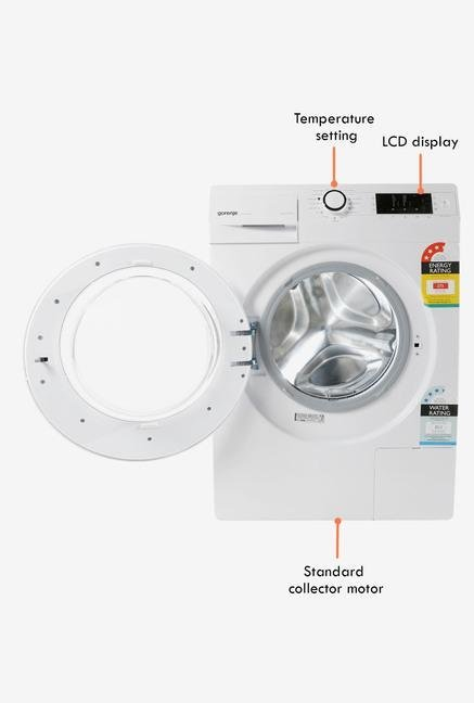 Gorenje 7 Kg Front Load W7523 Washing Machine White