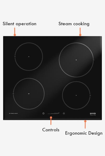 Gorenje 60 cm IQ634USC Induction Hob Black