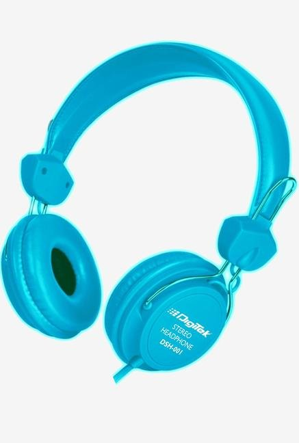 Digitek DSH 001 Over Ear Headphone Blue