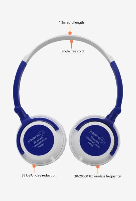 Power Ace Stereo PSH 001 Headphone Blue